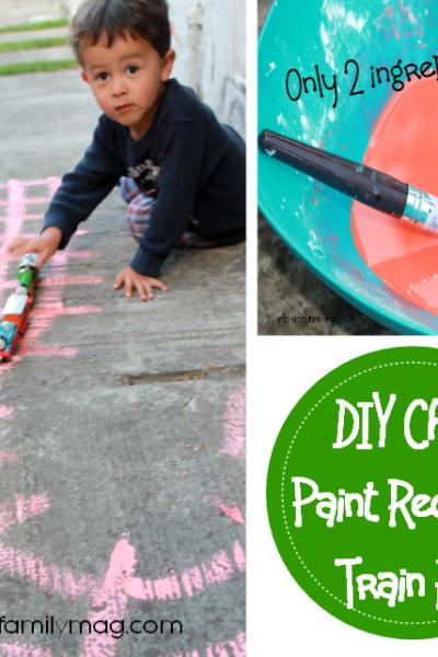 DIY Chalk Paint Recipe and Train Fun