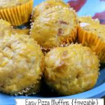 Pizza Muffins {freezable recipe}