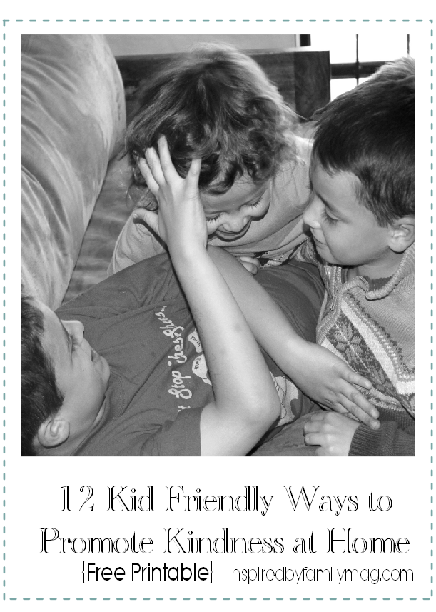 kid friendly ways to promot kindness at home