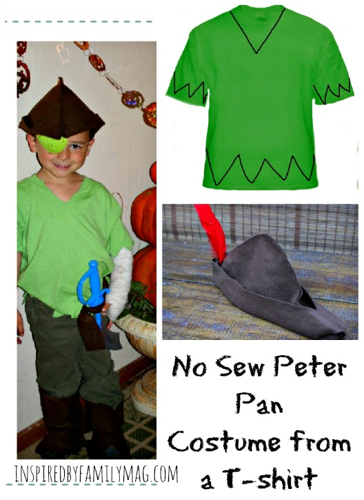 no sew peter pan costume