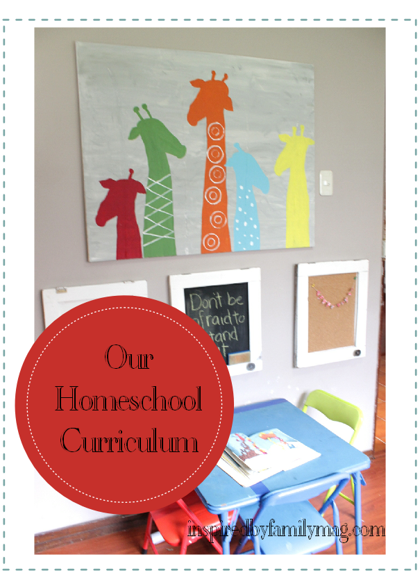 our homeschool curriculum