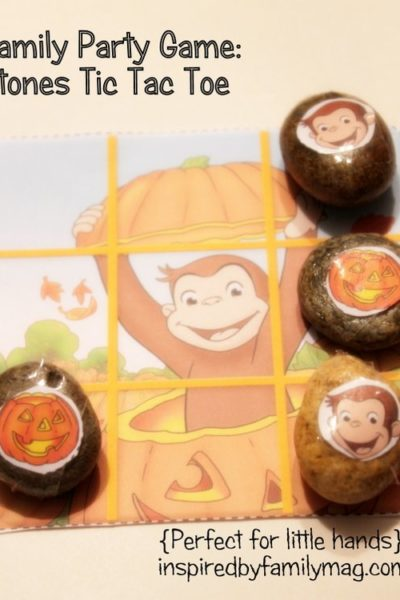 Curious George Stones Tic Tac Toe Game