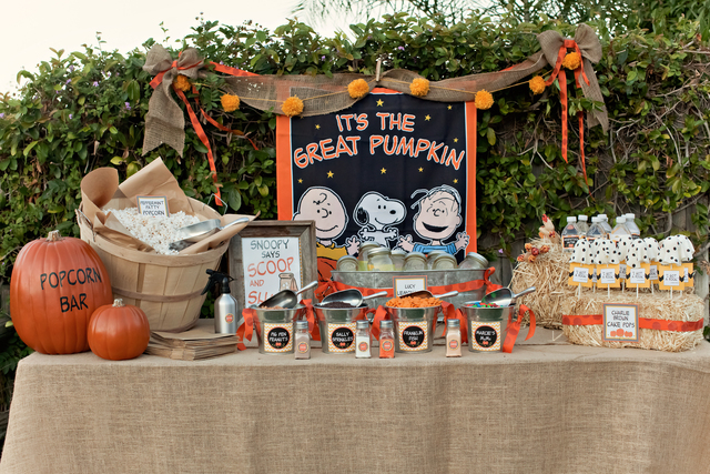 charlie brown pumpkin party