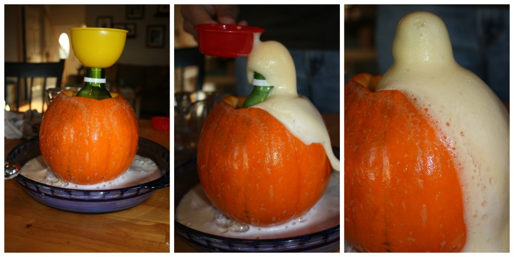 pumpkin erupting
