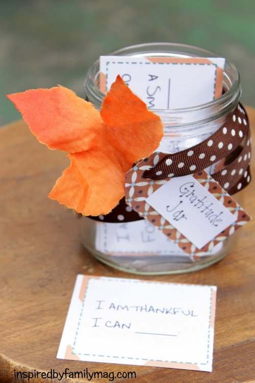 Gratitude Thanksgiving Jar Activity Printable Prompts