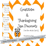 Gratitude & Thanksgiving Jar Activity & Free Printable Prompts
