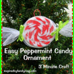 Easy Christmas Ornament Craft: Peppermint Candy