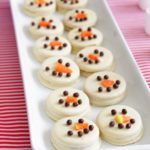 Easy No Bake Snowman Cookies