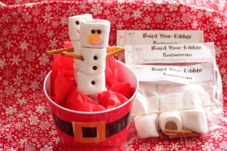 ... my free printables: Build Your Edible Snowman Printable Party Favors 1