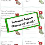 Christmas Homework Coupons {Homeschool friendly}