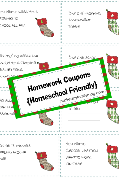 Christmas Homework Coupons {Homeschool friendly}