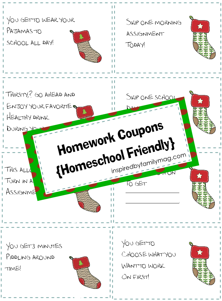 homework coupons christmas christmas homework coupons homeschool friendly christmas homework coupons homeschool friendly