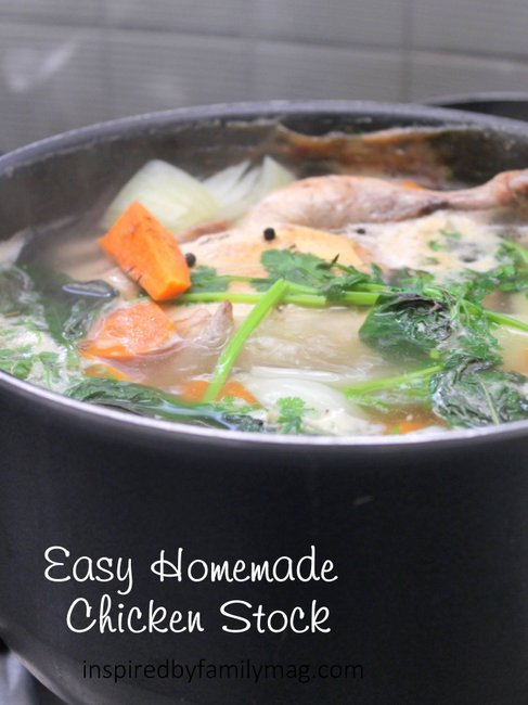How to Make Easy Homemade Chicken Stock - Inspired by Familia
