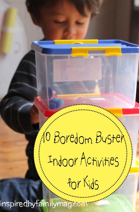 boredom buster indoor activities for kids