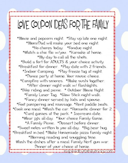 love coupon ideas