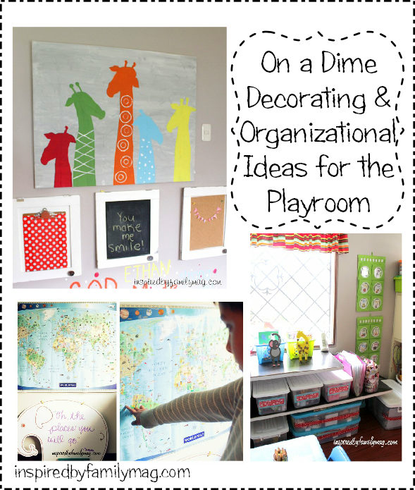 On a dime decorating organizational ideas for your small - Small space playroom ideas ...