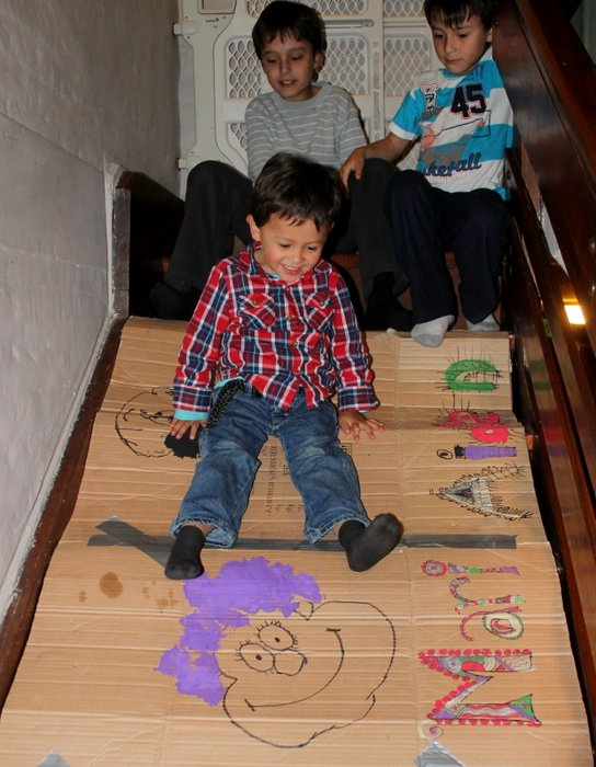 graffitti on cardboard