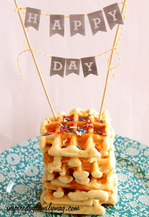 Simple Birthday Traditions Waffle Cake