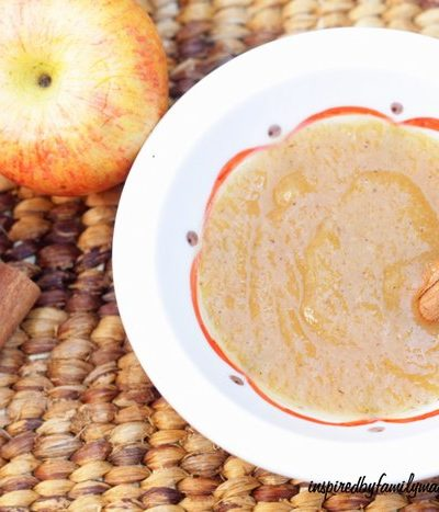 Easy Slow Cooker Applesauce Recipe {NO Peeling Required}