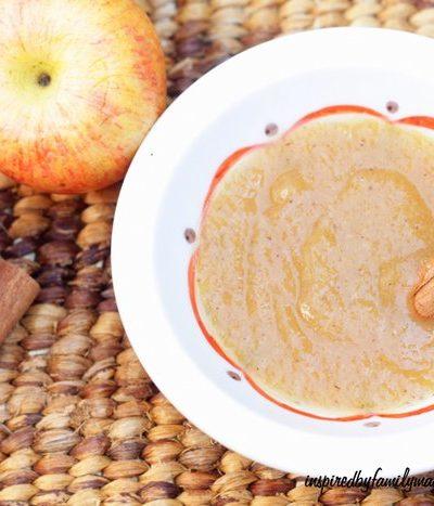 Easy Slow Cooker Applesauce Recipe {NO Peeling Required}
