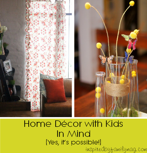 home decor with kids in mind