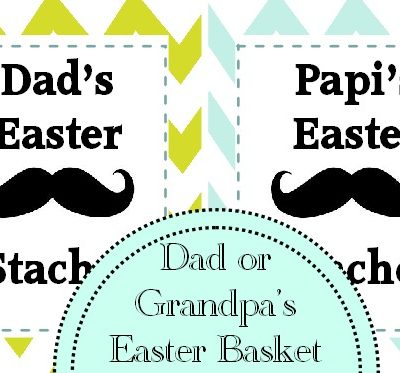 Easter Basket Gift Idea: Dad's Easter Stache