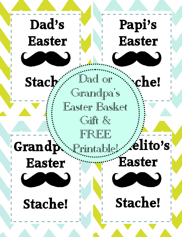 Easter basket gift idea dads easter stache dads easter basket gift negle Images