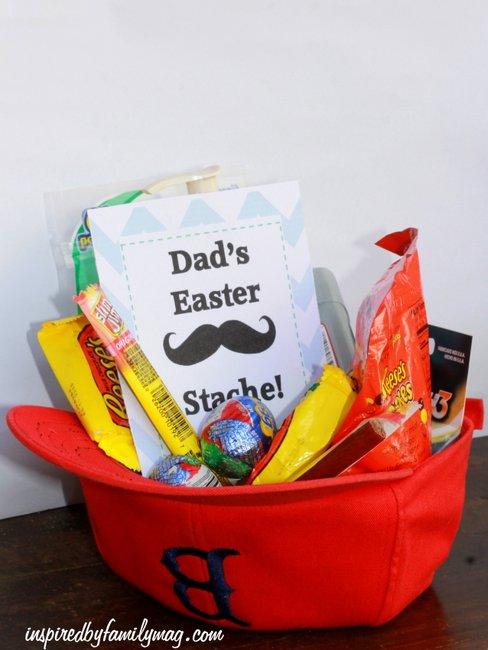 dad easter stache easter basket idea