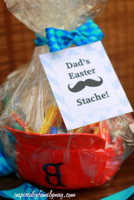 Easter basket gift idea dads easter stache dads easter stache negle Gallery