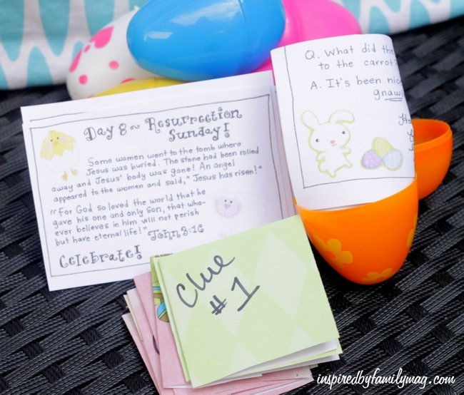 Easter story activity for kids