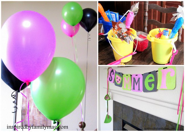 watermelons summer party decor