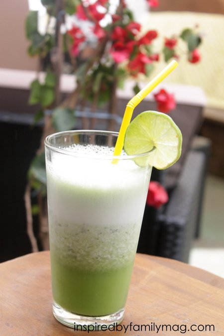 coconut lime cilantro drink