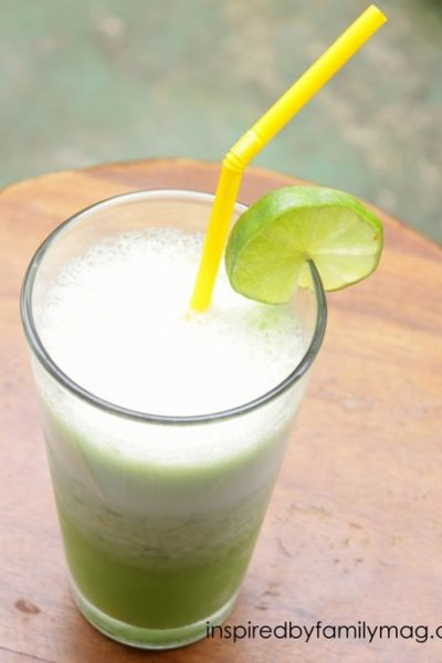 Coconut Cucumber Lime Shake