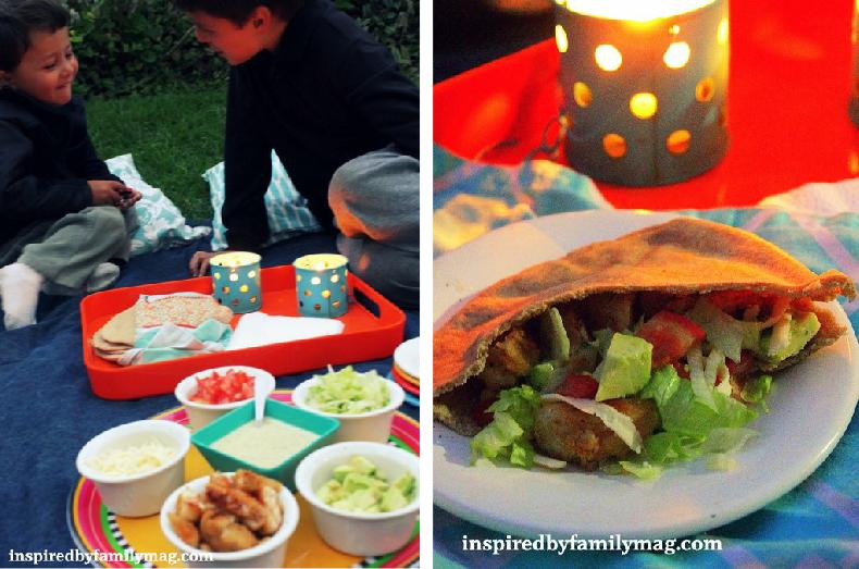 outdoor dinner picnic