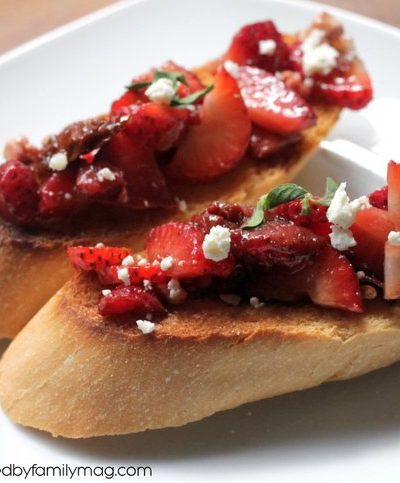 Must Try Appetizer: Strawberry Bruschetta