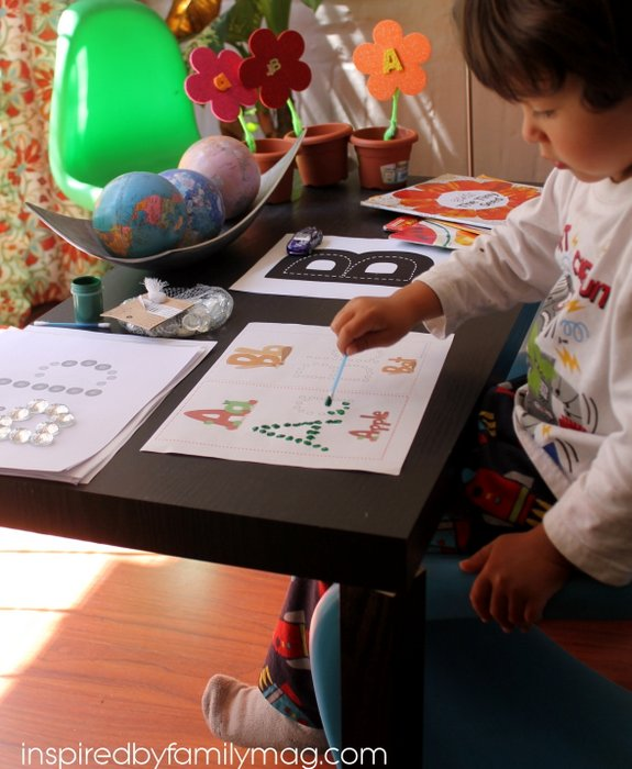 q-tip alphabet painting