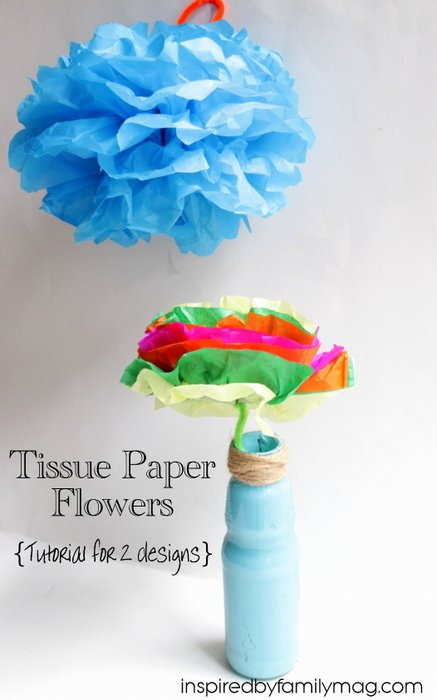 How to make tissue paper flowers tissue paper flowers mightylinksfo
