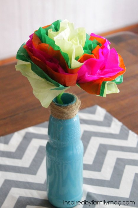 How to make tissue paper flowers mexican tissue paper flowers craft mightylinksfo