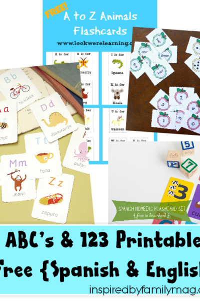 ABC's & 123 Printables and More {Spanish & English}