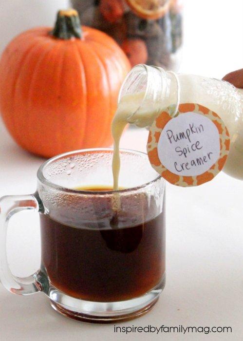 homemade pumpkin spice creamer