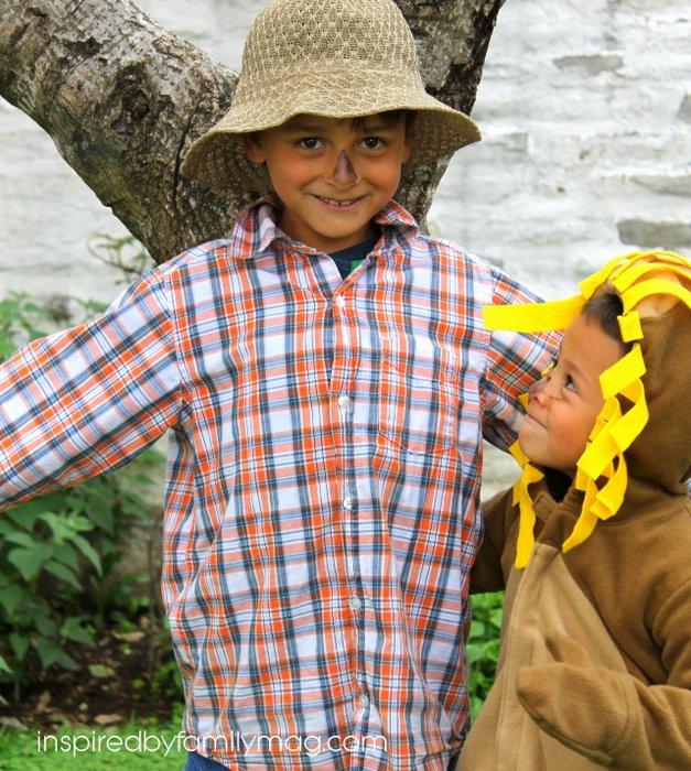 no sew wizarad of oz costume for kids