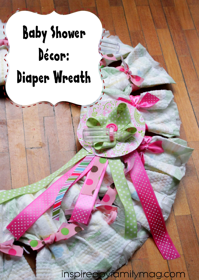 baby shower diaper wreath gift