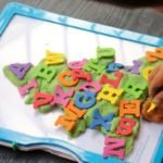 Preschool Christmas Activity: Alphabet Play Dough Tree