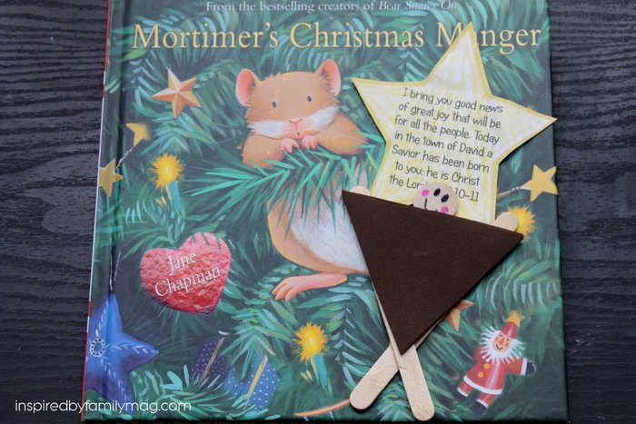 Manger Craft for Kids Inspired by Mortimer's Christmas Manger