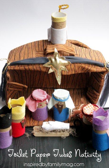 tp tube nativity craft