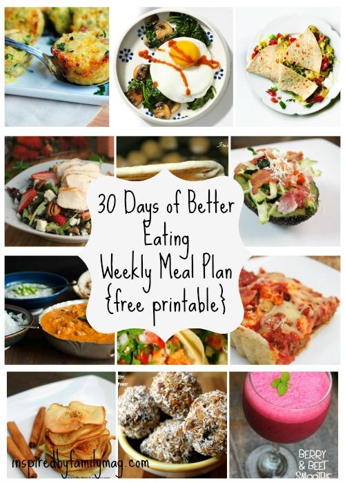Healthy Weekly Meal Plan 1