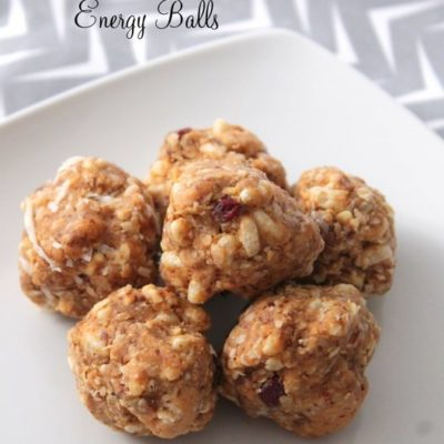 Cranberry Peanut Butter Energy Balls