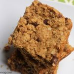 Breakfast Bars: Peanut Butter and Chocolate Cookie Bars {Gluten-free}