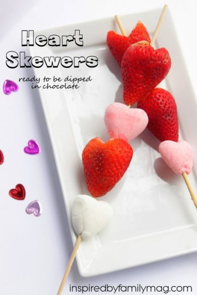 Valentine's Day Easy Dessert: Heart Skewers
