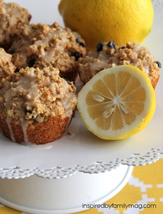 lemon blueberry breakfast muffins